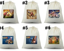 12 Clash of Clans birthday party favor loot treat drawstring bags