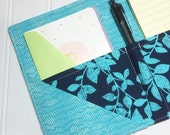END of YEAR SALE - List taker Mini Shopper - Notepad holder  - Falling for Blue