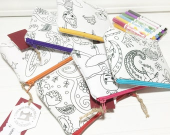PARTY FAVORS you can color with washable markers - 6 different prints you choose