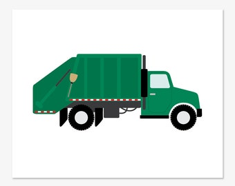 Garbage Truck Print