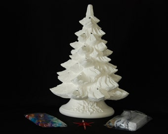 Ready To Paint Ceramic Christmas Tree Kit 19 Inches
