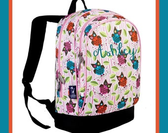 Monogram Backpack and Lunch Bag Set - Wildkin - Personalized - Owls - Back to School Elementary