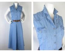 Vintage Western Roper Cowgirl Dress, Sz M