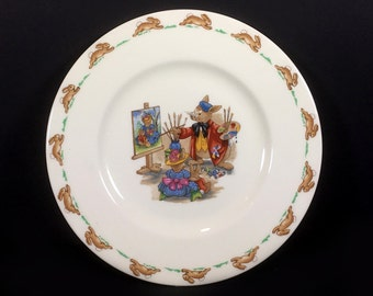"Vintage Royal Doulton ""Bunnykins"" 8"" Salad Plate, ""Portrait Painter"""