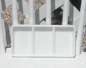 Dental Tray Vintage Milk Glass American Cabinet 0838 Vanity Drawer Cosmetics Craft Organizer Beading Tray Three Section
