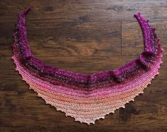 Crochet Shawl Pattern - Coffee Shop Shawl