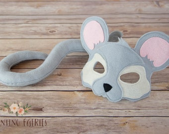 Oscar the Mouse Mask and Tail costume and  pretend play