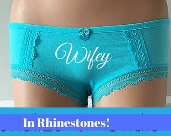 Something BLUE Personalized Bridal Boyshort Aqua Blue Undie, Underwear, Bridal Panties, Customized - Size Large -