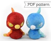 Phoenix Bird Plush .pdf Sewing Pattern