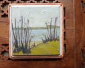 Through The Grasses | Original Oil Painting Landscape Painting | 4 x 4