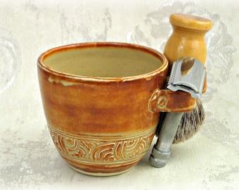 Shaving Mug in Rusty Cream