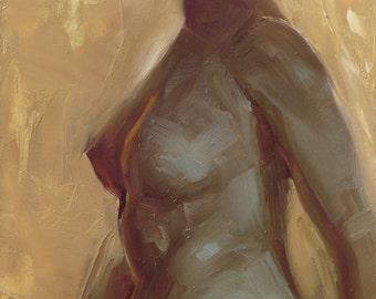 Gold Nude - Original Oil Painting