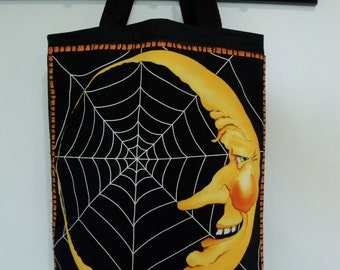 Halloween Trick or Treat Bag Webs in the Moon Candy Gift Bag