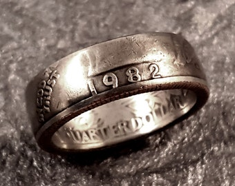 1982 Coin Ring YOUR SIZE Quarter MR0705-Tyr1982