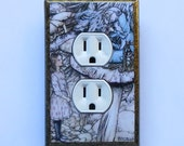 5 CHOICES Arthur Rackham switchplates w/ MATCHING SCREWS- Rackham art Alice in Wonderland prints Wer'e all mad here Mad Hatter Alice outlets