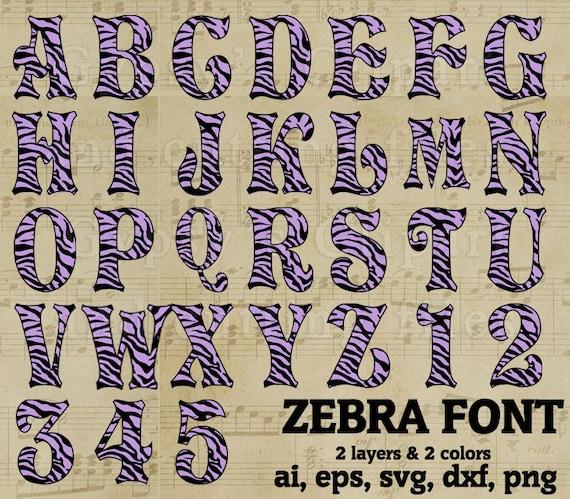 Zebra Font svg. SVG svg Font Zebra print Monograms SVG Zebra 0 Font