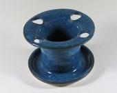 Stoneware Toothbrush Holder - Bathroom Storage - One Piece - Easy Clean - Denim Blue - Ceramic Pottery - Bathroom Accessory