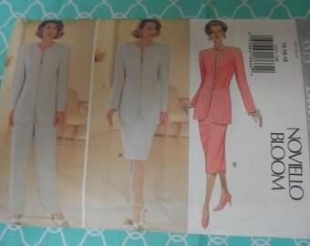 Butterick 3313 Misses Suit, Jacket, Pants, Skirt Pattern Novello Bloom 14-16-18