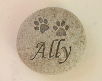 Custom Engraved Pet Memorial Stone Dog Cat Grave Marker Stone Pet Loss