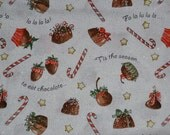 Christmas Chocolate Gilter Fabric/Material by the yard