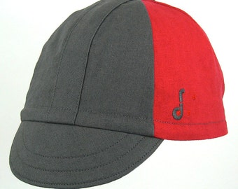Clearance Sale The Heroic Cycling Cap: Grey and Red
