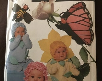 Simplicity Costumes 7868 Toddler's Flower, Bee And Butterfly Costumes Sewing Pattern