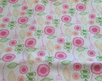 Pink Blooms & Bursts Fabric By Jen Da Silva