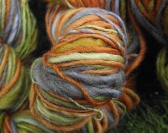 Handspun wool yarn, handpainted light worsted sport organic Polwarth wool yarn-Succulent