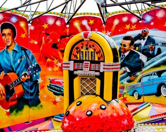 Elvis Rock N' Roll Ride Fine Art Print- Carnival Art, County Fair, Nursery Decor, Home Decor, Children, Baby, Kids