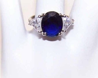 intage STERLING SILVER & Cubic Zirconia Fashion Ring