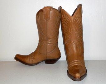 Womens 9.5 M Western Fashion Boots Cowboy Cowgirl Nine West Shoes Vintage Leather