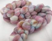 Organic Polwarth wool, speckle dyed no.12, 4 oz.