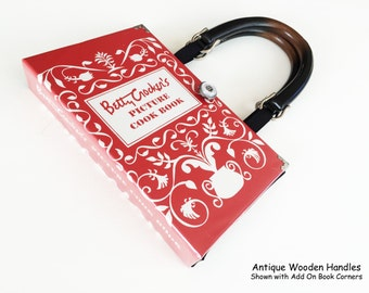 Betty Crocker Cook Book Recycled Book Purse - Vintage Cookbook Book Purse - Culinary Gift - Mothers Day Gift