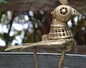 Brass Bird Incense Burner