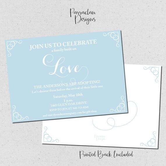 Adoption Baby Shower Invitation | Baby Boy Shower Invitation | Digital | Printable | Invitation | BS93