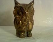 FREE SHIPPING vintage brass owl (Vault B)