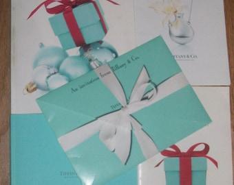 Lot 4 Tiffany and Co. Catalogs & Invite~OBO