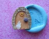 Silicone Fairy Door Mold Flowers Flower Leaf Fairy Door House Molds