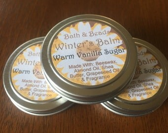 Warm Vanilla Sugar Winter Balm for Dry Rough Skin
