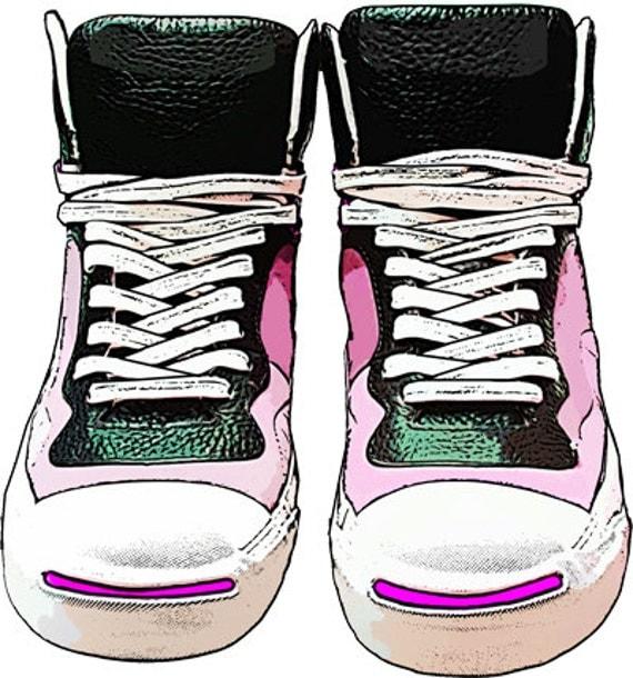 womens pink & black tennis shoes clipart png clip art jpg digital images download graphics transparent images fashion art printables