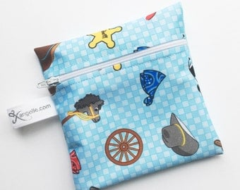"Small ""Little Cowboy"" Reusable Snack Bag"