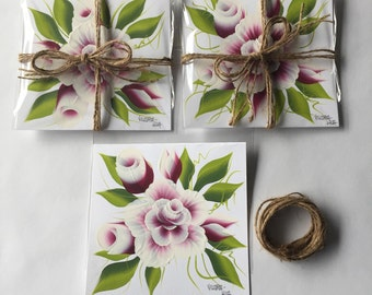 Painted Roses Card