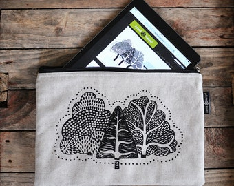 Hand Printed iPad Tablet Fabric Case