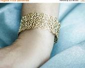 Sale 20% OFF Michelle- Filigree Bracelet, wedding accessory, bridal gold bracelet