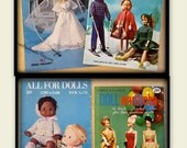 Doll Clothes Patterns - Barbie, Ken, Baby Doll - 2 Coats & Clarks Vintage Books - 1960s and 1970s