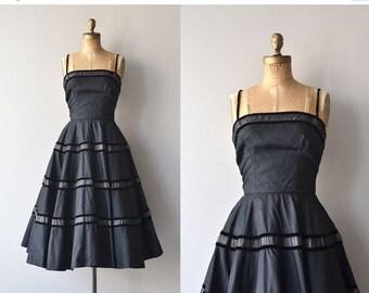 25% OFF.... Libretto dress   vintage 1950s dress   black 50s party dress