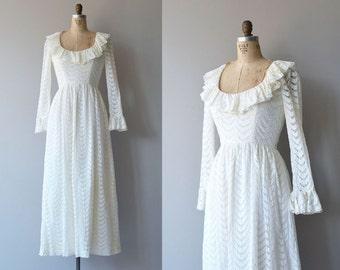 Light the Way dress | vintage 1970s wedding dress | white 70s maxi dress