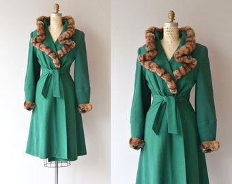 Rotherfield Park coat | vintage 1930s coat | fur collar 30s coat