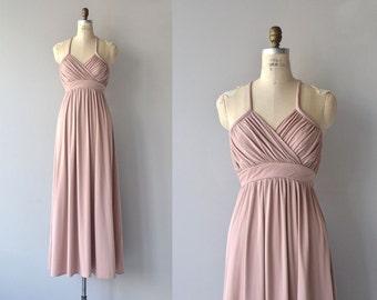 Theia dress   vintage 70s maxi dress   grecian 1970s dress