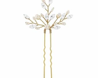 Pearl Flower Wedding Comb Vintage Roses Wedding By Retrobridal